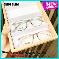 Gọng kính cận không độ Hàn Quốc cao cấp JJ210 – Mắt kính giả cận gọng dẻo dành cho cả nam và nữ – Tặng kèm hộp + Khăn Lau