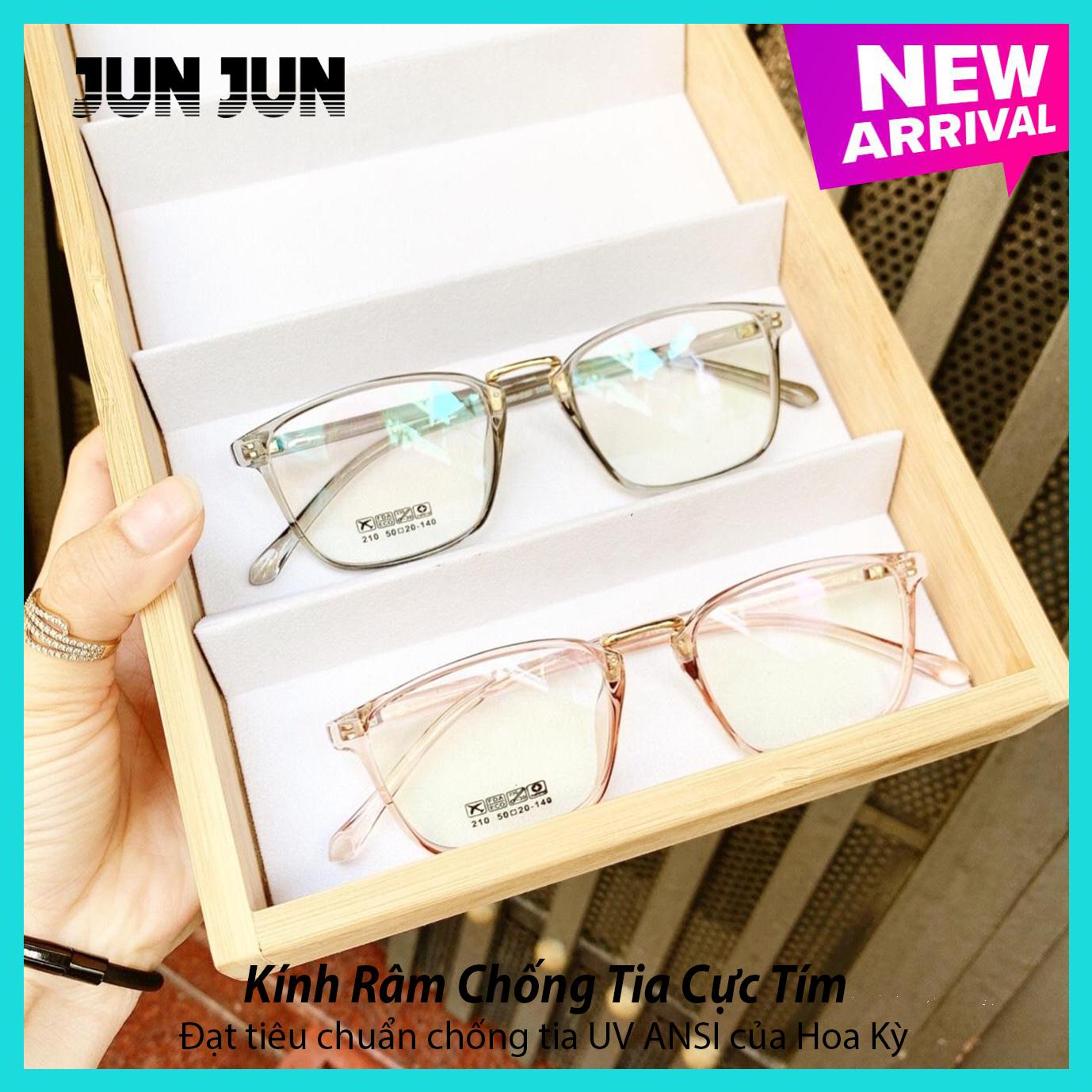 Gọng kính cận không độ Hàn Quốc cao cấp JJ210 - Mắt kính giả cận gọng dẻo dành cho cả...