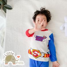 Bộ đồ bé trai/ bé gái Cotton xuất Nhật dài tay – Superman