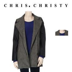 Áo khoác măng tô tay da nữ Chris.Christy