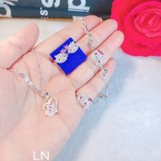 Bộ mèo kitty hồng cho bé gái – trang sức bạc ta, cam kết hàng đúng mô tả, chất lượng đảm bảo an toàn đến sức khỏe người sử dụng