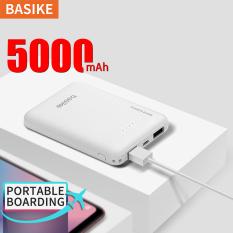 Dễ thương pin sạc dự phòng 5000mAh Sạc dự phòng dung lượng lớn Tương thích với Huawei P9 Y9 OPPO A3s A5 VIVO Samsung Đầu ra kép – BASIKE(PT609)