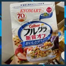 [Fre ship ]Ngũ cốc trái cây Calbee trắng 600gr – Nhật Bản (date T7/21)
