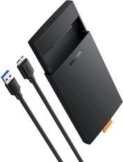 [Nhập ELMAY21 giảm thêm 10% đơn từ 99k] Hộp đựng ổ cứng 2.5 inch SSD HDD, chuẩn SATA hỗ trợ ổ cứng lên đến 6TB, 2 loại vỏ nhôm và nhựa cao cấp, kích thước 128x82x14mm UGREEN US221 CM300 – Hãng phân phối chính thức
