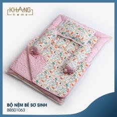 Bộ Nệm Bé Sơ Sinh Khang Home BBS01063