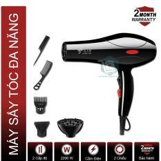 Máy sấy tóc chuyên nghiệp công suất lớn DELIYA 2200W DLY-8018 (Mẫu mới 2019), Tặng bộ dụng cụ 5 món