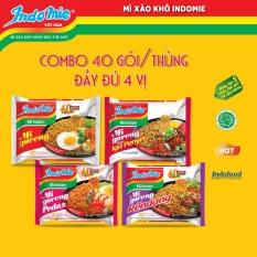 Combo 40 gói mì xào khô indomie mix nhiều vị – nhập khẩu indonesia