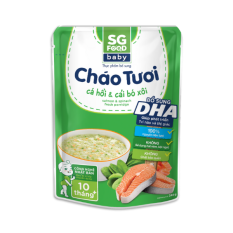 Cháo tươi Baby Sài Gòn Food Cá hồi & Cải bó xôi 240g