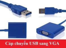 Cáp chuyển đổi tín hiệu USB sang VGA (Trắng)