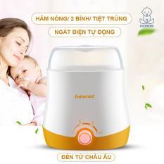 máy hâm sữa và thức ăn cho bé tiệt trùng 2 bình 2 chức năng máy hâm sữa đa năng