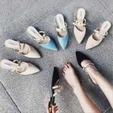 Giày cao gót đế vuông có hình thật