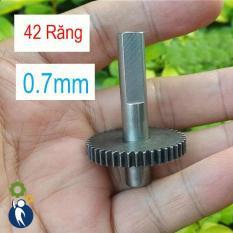 Bánh Răng Thép Trục 8mm 42 Răng 0.7M Có Thanh Trục