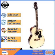 Đàn guitar Acoustic DJ150 Natural sản xuất thủ công, âm thanh trầm bổng, chất lượng đảm bảo – Duy Guitar Shop