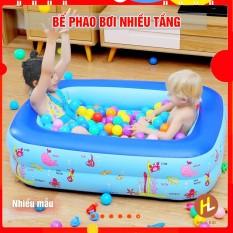 BỂ PHAO BƠI bơm hơi nhiều kích thước cho bé (1m2 và 1m3 và 1m5 )- Nhiều mẫu Hala Kid- HÌNH CHỮ NHẬT