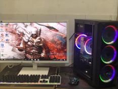Máy tính chơi game A8-7600, Ram 8GB, Card RX470 4GB 256bit, Case led như hình