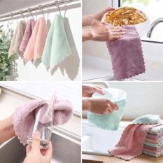 Quá rẻ-Bộ 10 khăn lau siêu thấm- Khăn lau 2 mặt- thấm nước khô nhanh-Không rụng bông- Khăn lau đa năng