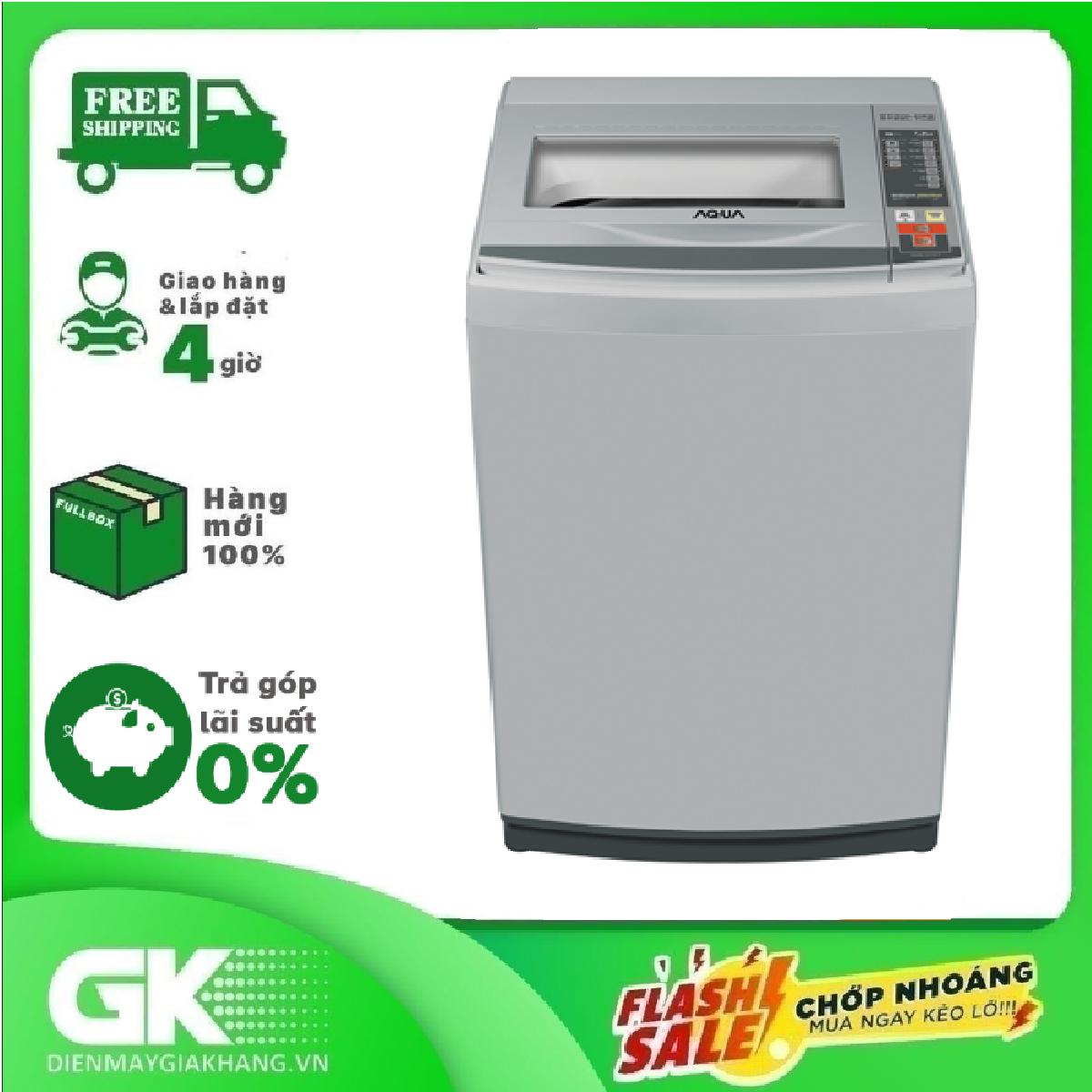 [GIAO HÀNG 2 – 15 NGÀY, TRỄ NHẤT 30.08] TRẢ GÓP 0% – Máy giặt AQUA AQW-S72CT 7.2kg