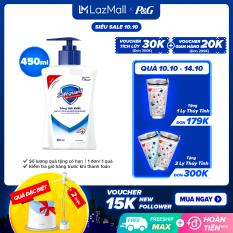 [10-14.10 Quà khi đủ điều kiện] Nước Rửa Tay Diệt Khuẩn Safeguard Hand Soap Pure White (450ml)