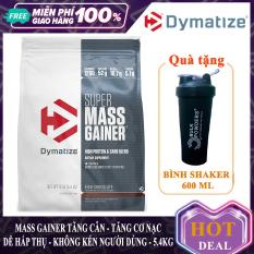 [FREE SHAKER] Sữa tăng cân tăng cơ Super Mass Gainer của Dymatize hương Chocolate bịch 5.4 kg hỗ trợ tăng cân tăng cơ nhanh cho người gầy kén ăn khó hấp thu khó tăng cân – thuc pham chuc nang