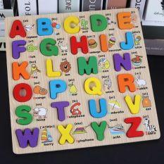 Bảng học chữ cái Tiếng Anh bằng gỗ cao cấp