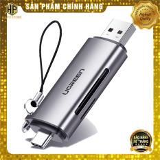 Đầu đọc thẻ nhớ SD/TF chuẩn USB Type C và USB 3.0 Ugreen 50706 chính hãng – Hapustore