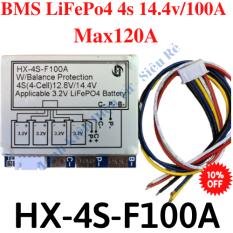 Mạch BMS HX-4S-100A,BMS 4s 100A,Mạch bảo vệ Pin LiFePo4 4s 14.4 100A