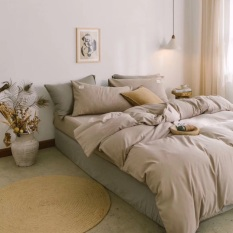 Set chăn ga gối cotton đũi – Màu begie – Nude, cam kết hàng đúng mô tả, chất lượng đảm bảo an toàn đến sức khỏe người sử dụng