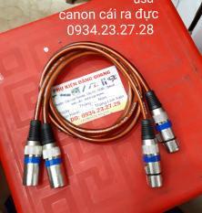 Cặp canon Đực ra Cái dài 0.5m loại tốt ( canon sọc xanh , dây usa )