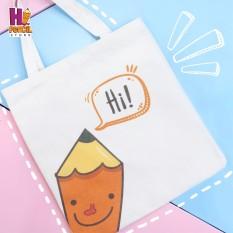 Túi Vải Trắng Xin Chào Bút Chì – Hi Pencil