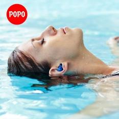 Bộ 2 nút bịt tai cao cấp EP1 chất liệu silicon dẻo mềm mịn cao cấp chống nước 100% bảo vệ an toàn cho da chính hãng POPO