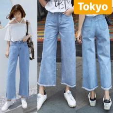 QUẦN JEAN BAGGY NỮ XANH ỐNG LOE LƯNG CAO NÂNG MÔNG CONAN SHINICHI TOKY- CAO CẤP – TOKYO FASHION
