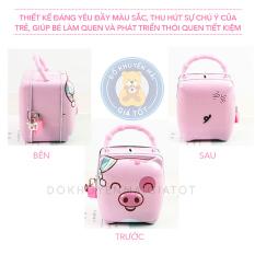 Ống heo sắt mini tiết kiệm màu xanh, màu hồng có khóa đáng yêu cho bé trai, bé gái – Đồ khuyến mãi giá tốt