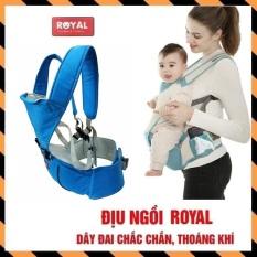 Địu em bé cao cấp có ghế (bệ ngồi) chống gù đai địu ngồi trẻ em nhiều tư thế êm ái thỏa mái cho mẹ và bé điệu êm ái- Địu Ngồi Đa Năng Royal Cho Bé Bảo Hành 12 Tháng