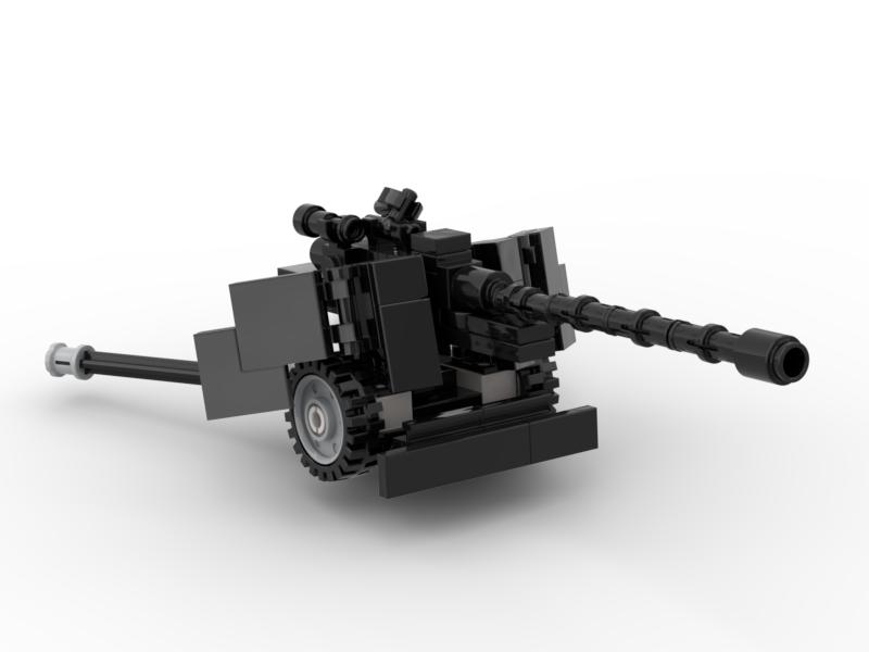 Đồ chơi lắp ráp Lego Moc Pháo Army Pak40-001