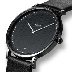 Đồng hồ – đồng hồ nam YAZOLE YA55 chạy 2 kim dây da PU sang trọng và phong cách