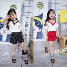 Set quần áo trẻ em Quảng Châu xuất Hàn đẹp lịm tim cho bé gái, chất vải thô đũi siêu mát