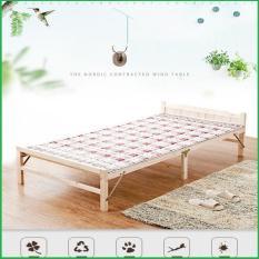 Giường gỗ thông gấp gọn 100x195cm tặng nệm gối – Giường xếp gỗ thông