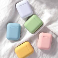 Tai nghe nhét tai không dây mini Macaron inPods 12 kết nối Bluetooth âm thanh nổi sống động có thể cảm ứng kèm hộp sạc dành cho điện thoại iPhone Android Huawei Xiaomi Samsung OPPO Vivo