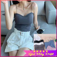 Áo Lót 2 dây-Có miếng lót ngực, chiếc địu nhỏ hở lưng xinh xắn, áo bra mút mỏng áo crop top ngắn mùa hè