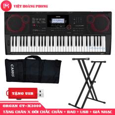 Đàn Organ Casio CT-X3000 kèm + CHÂN X ĐÔI + USB + Giá nhạc +AD + Bao đàn – Bảo hành 2 năm – Việt Hoàng Phong