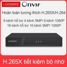 Đầu ghi 16 Kênh LOOSAFE + ổ cứng 1TB, NVR, định dạng H.265X