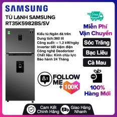 Tủ lạnh Samsung Inverter 360 lít RT35K5982BS/SV Miễn phí vận chuyển nội thành Sóc Trăng, Bạc Liêu, Cà Mau