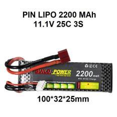 Pin lipo 2200 11.1V 25C 3S dùng cho đồ chơi công nghệ
