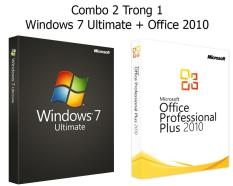 (Combo Win + Office) Windows 7 Ultimate + Office 2010 – Bản quyền Vĩnh viễn – Active Online