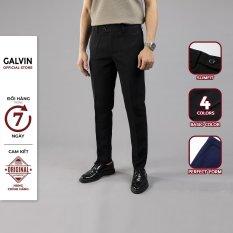 GALVIN_ Quần nam tây âu chính hãng 4 màu basic , quần nam tây âu học sinh đẹp dáng ôm trẻ trung lịch lãm không nhăn co giãn nhẹ QAGV3