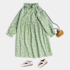 Váy Cho Bé Gái Dáng Xòe Dài Tay Họa Tiết Xinh Xắn Thời Trang Cao Cấp