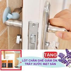Combo 4 cao su chặn cửa ngăn sập tường, trầy tường, giảm ồn . Tặng 4 miếng cao su lót chân vật dụng chống trầy xước, giảm tiếng ồn
