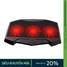 Đế tản nhiệt Laptop Nuoxi 3 quạt giảm nhiệt hiệu quả cho latop của bạn