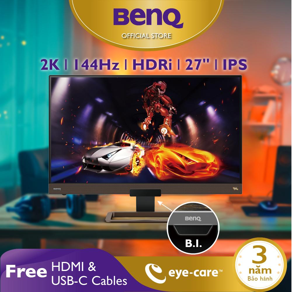 Màn hình Gaming BenQ EX2780Q 27 inch 2K 144Hz với HDRi, FreeSync – Màn hình chơi Game, Giải trí và làm việc ở nhà. Work from home hiệu quả!