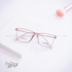 [LẮP SẴN CẬN]Gọng kính cận nữ, gọng cận nhựa dẻo cốt kim loại, mắt kính vuông Z8107G